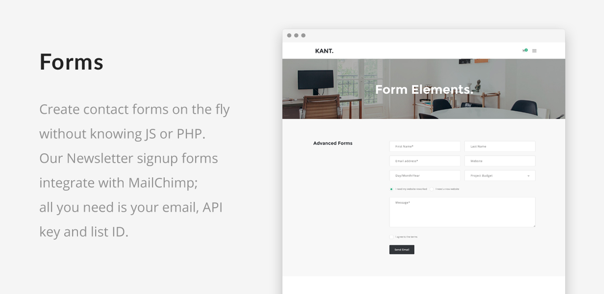 Kant - A Multipurpose Template For Startups And Freelancers - 5