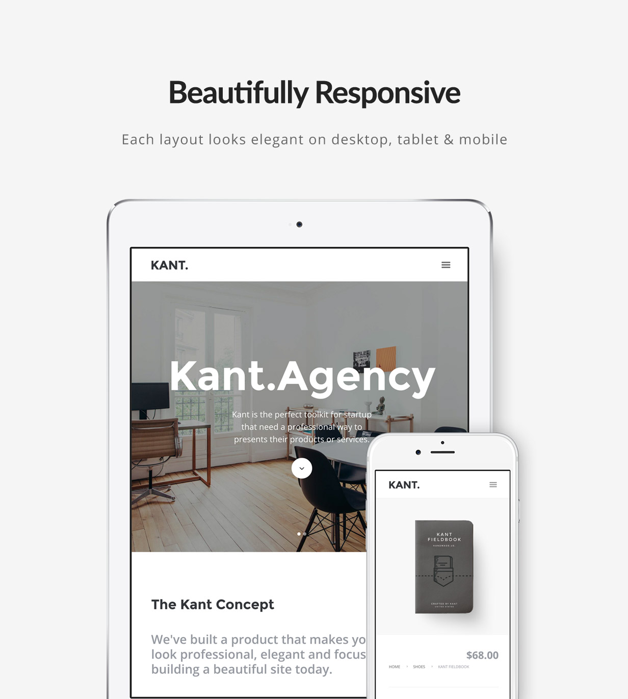 Kant - A Multipurpose Template For Startups And Freelancers - 2