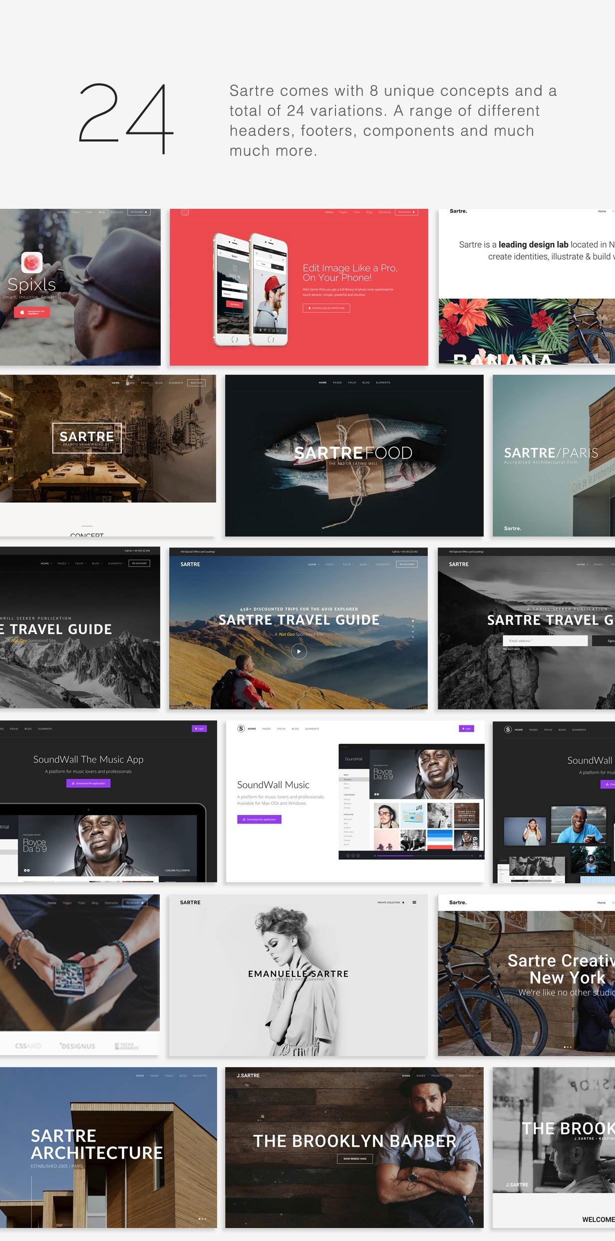 Sartre - Creative Multipurpose HTML Template - 4