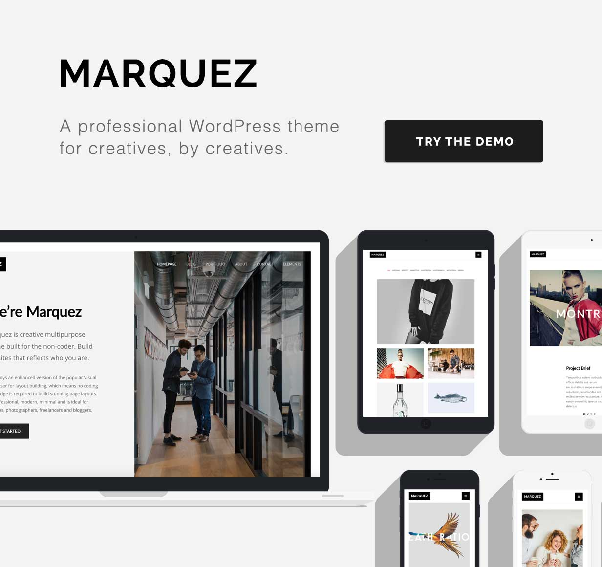 Marquez - A Creative WordPress Theme for Creatives and Agencies - 1