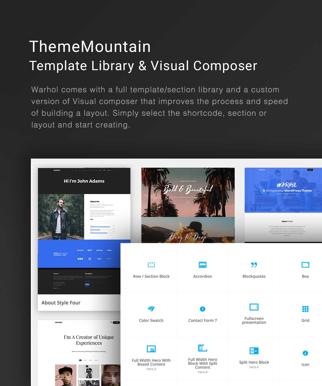 tf-profile-visual-composer.jpg?version=1 Warhol - Responsive Multipurpose WordPress Theme for Creatives theme WordPress